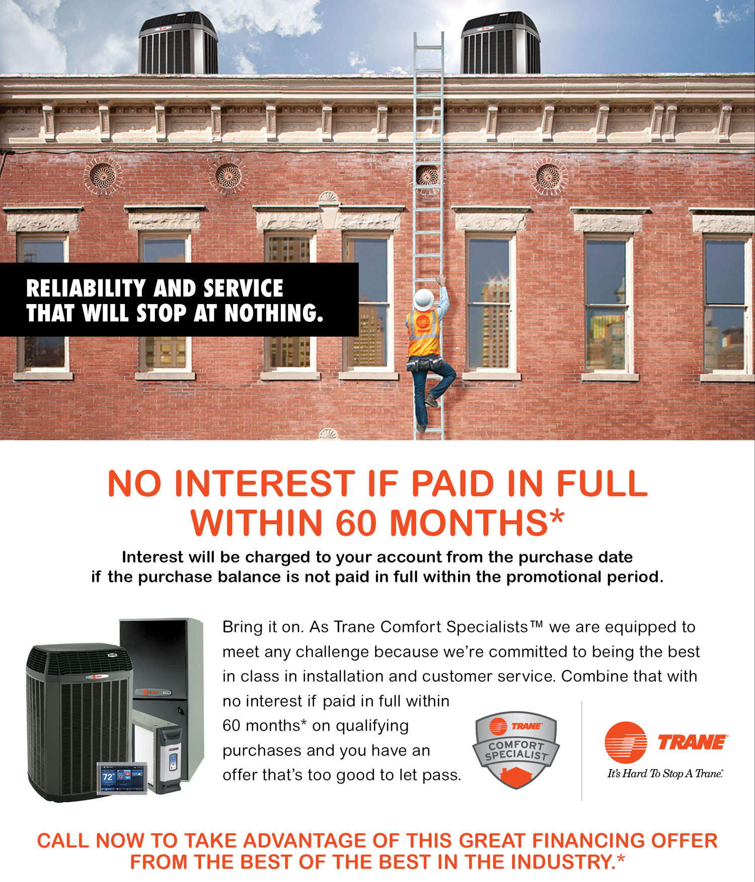Trane All Year TCS Offer 60 Months - 2017